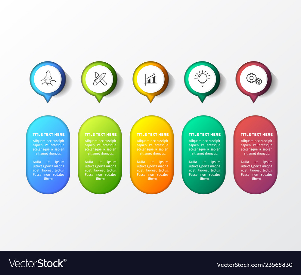Colorful infographic with 3d table