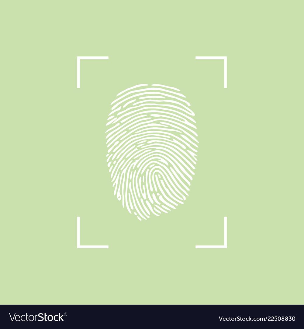 Fingerprint icon eps 10