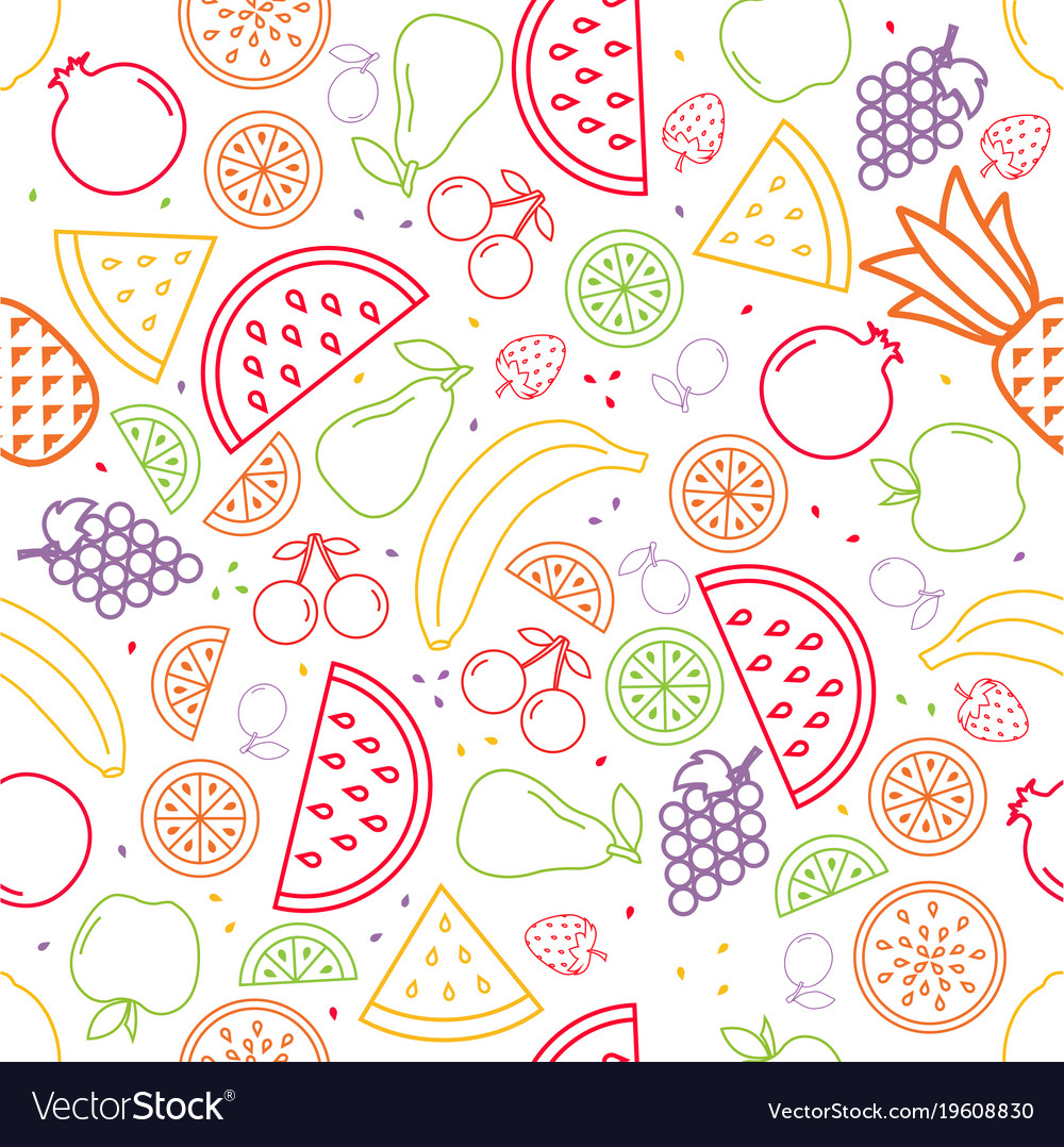 Fruit pattern in contours