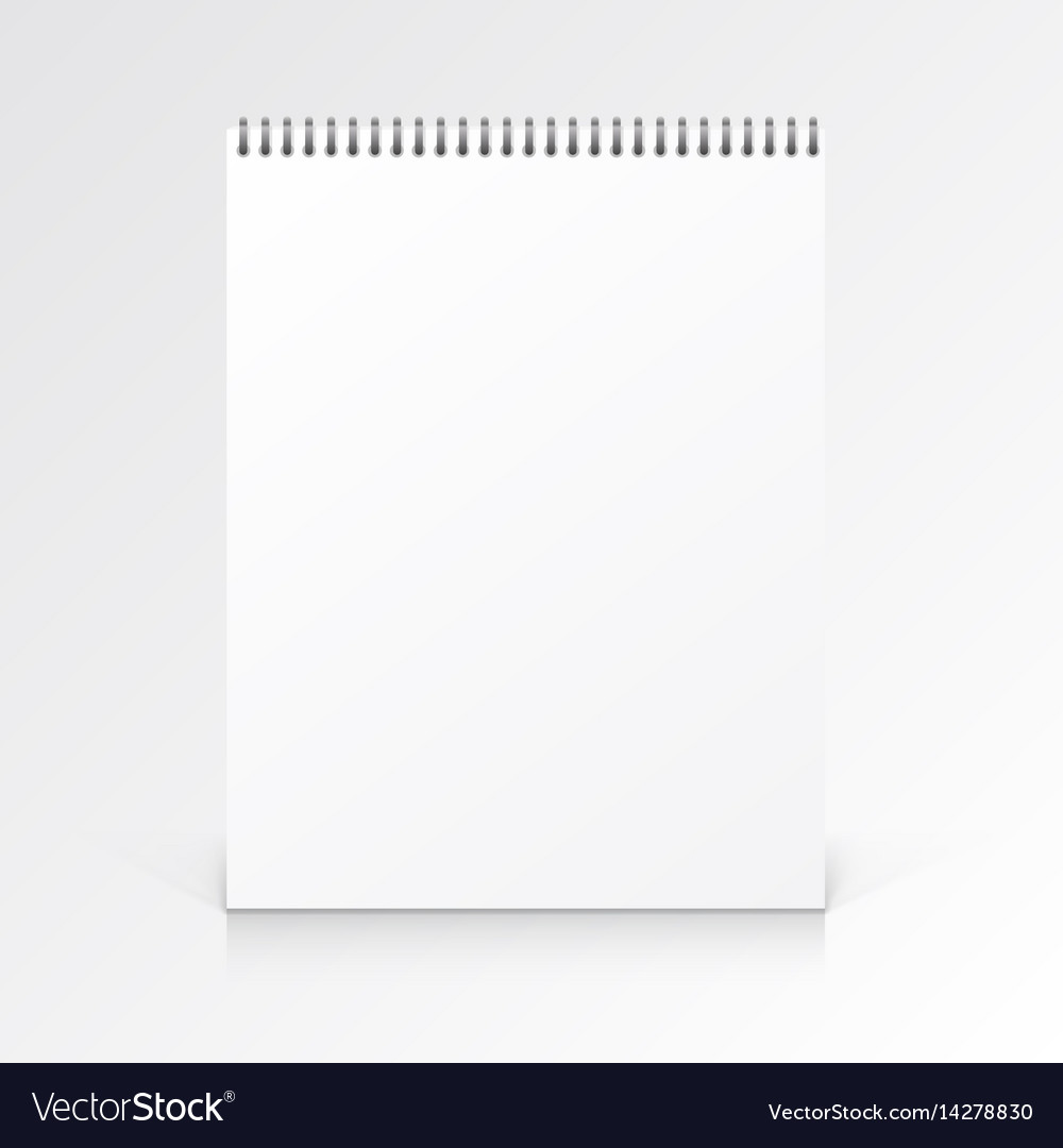 Paper notebook journal on a white background