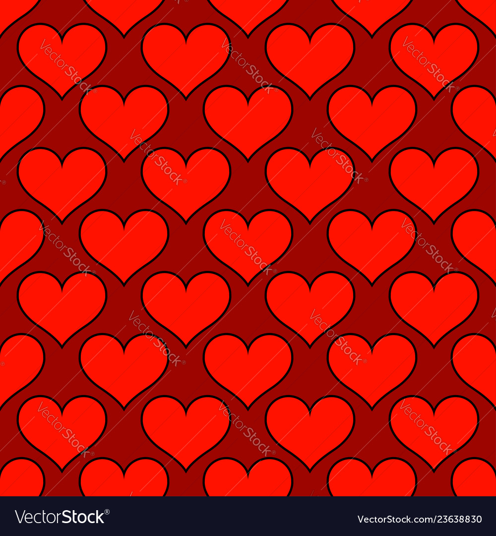Red hearts love seamless background pattern