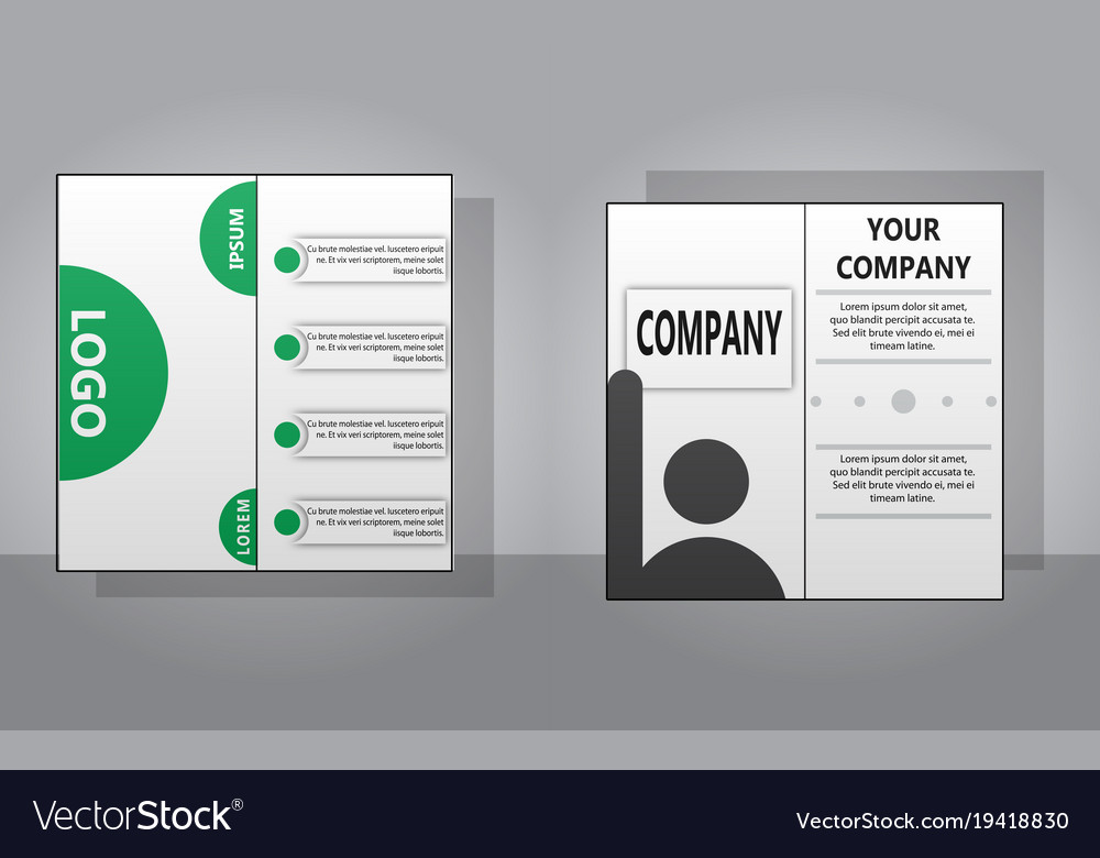 Sets Of Modern Light Business Card Template For Vector Image
