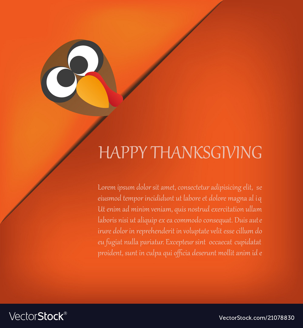 Thanksgiving card with turkey eps10 design