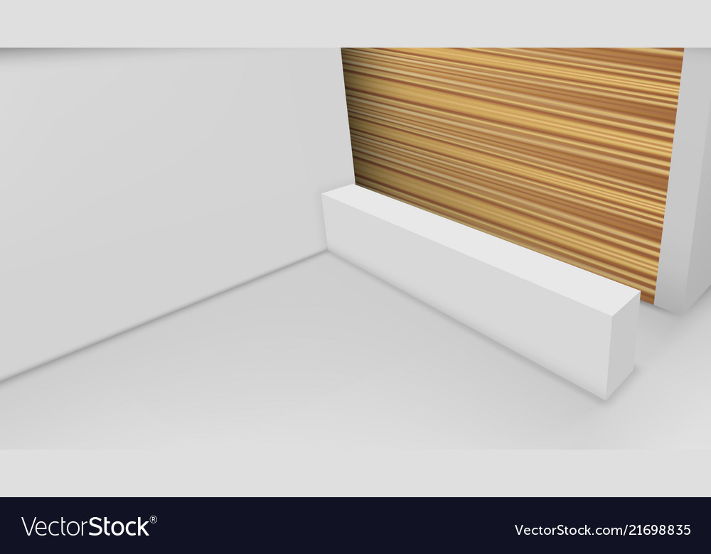 3d view of a office reception desk ready for