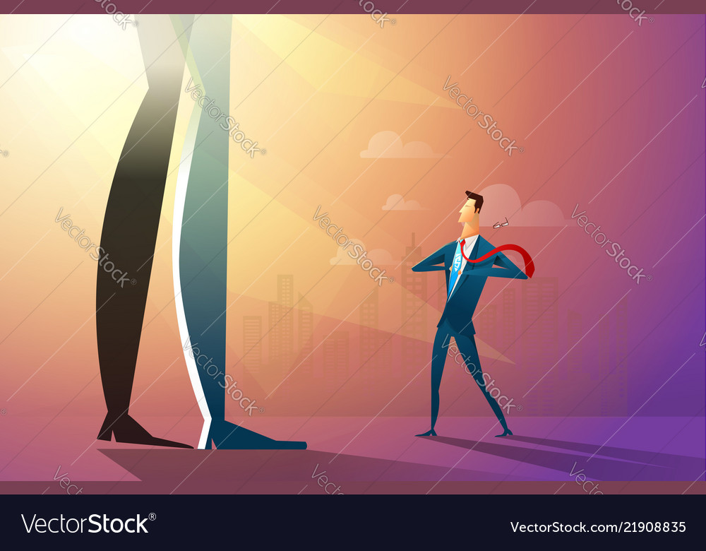 A confident businessman ripping