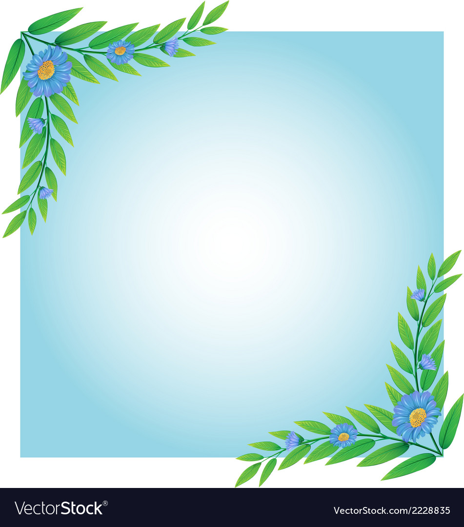 A template with green and blue borders