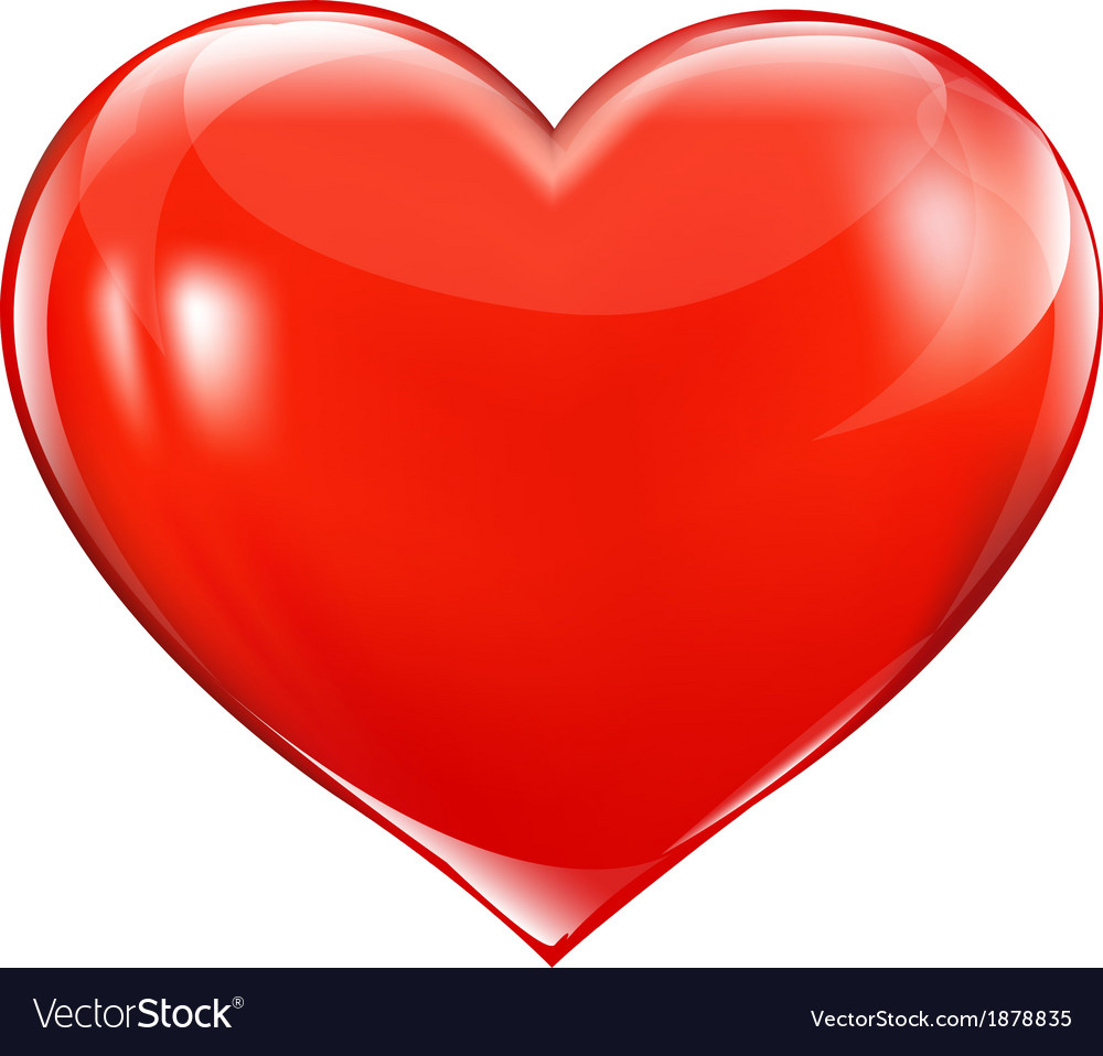 big red heart royalty free vector image - vectorstock  vectorstock