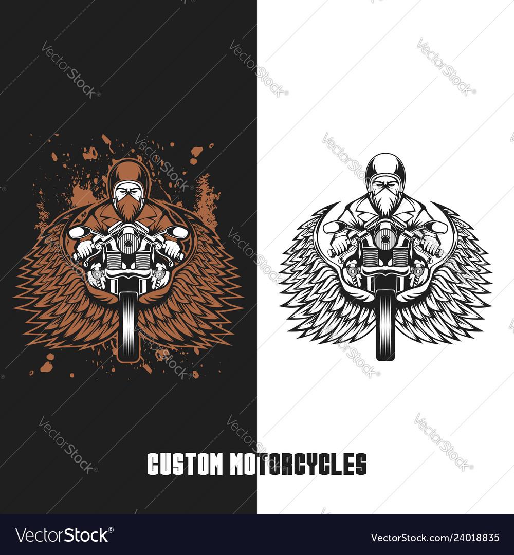 Biker custom motorcycles