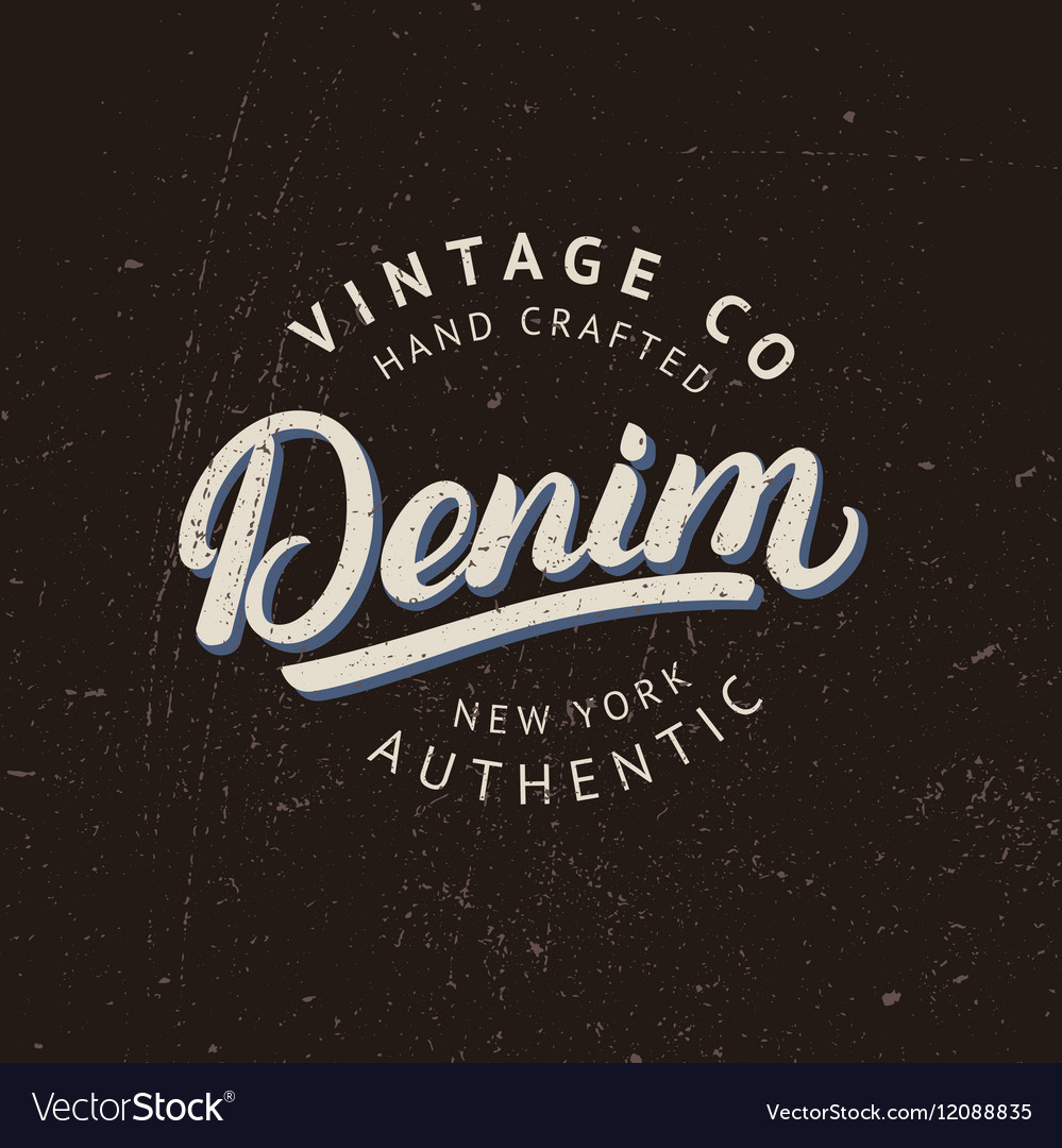 Denim hand written lettering