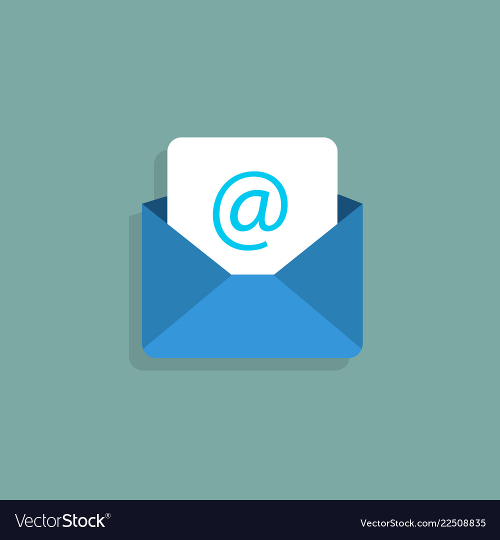 Envelope mail icon flat style