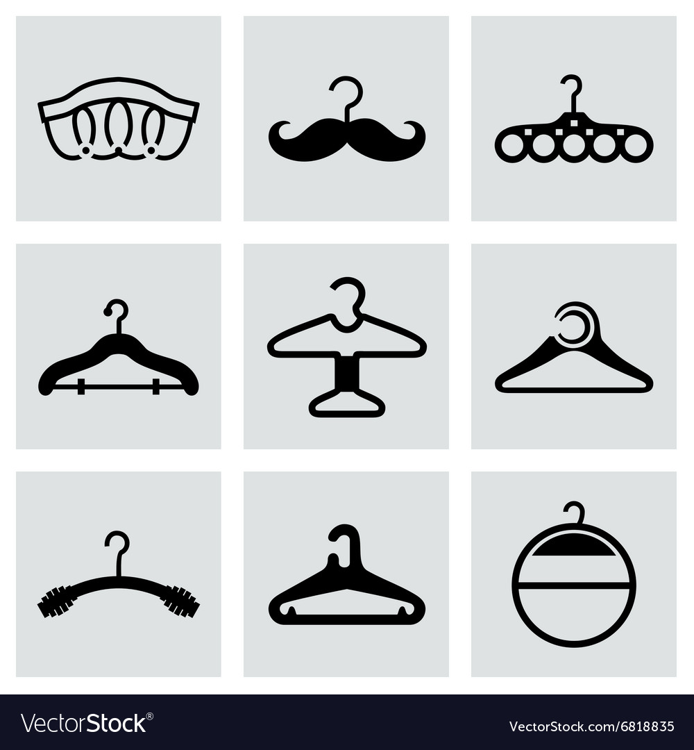 Hanger icon set