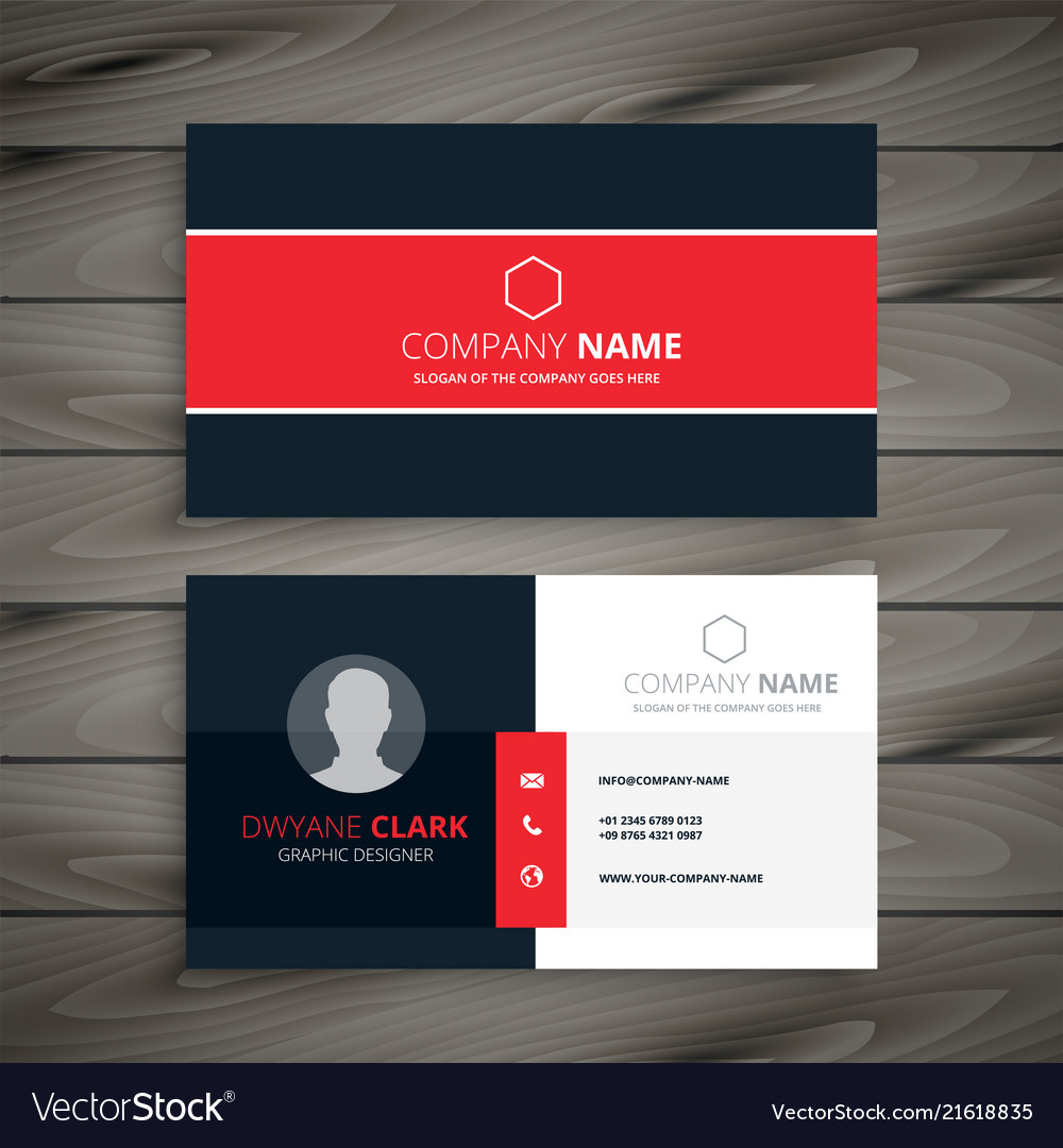 Professional Red Business Card Template Royalty Free Vector