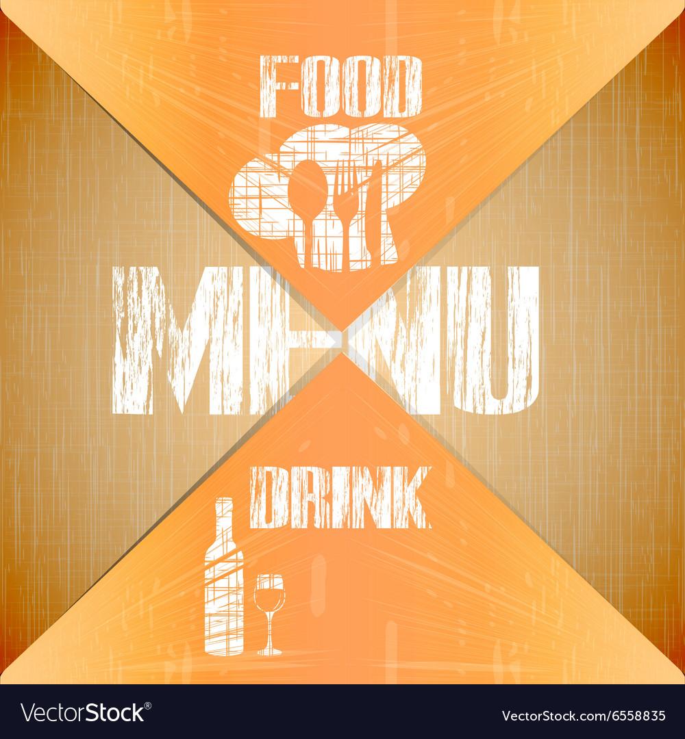 Restaurant menu with corners vector image