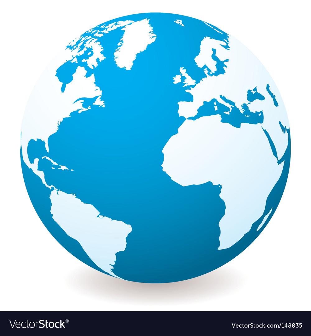 world globe royalty free vector image vectorstock rh vectorstock com world globe vector image world globe vector eps