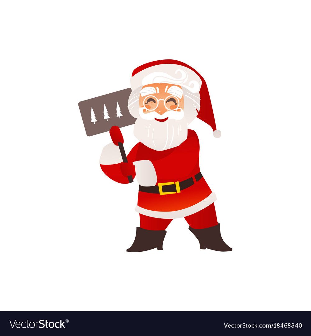 Gles With Christmas Sign Vector Image