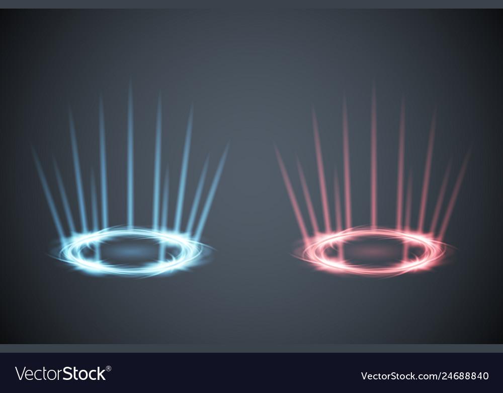 Glow scene rays energy conflict game versus screen