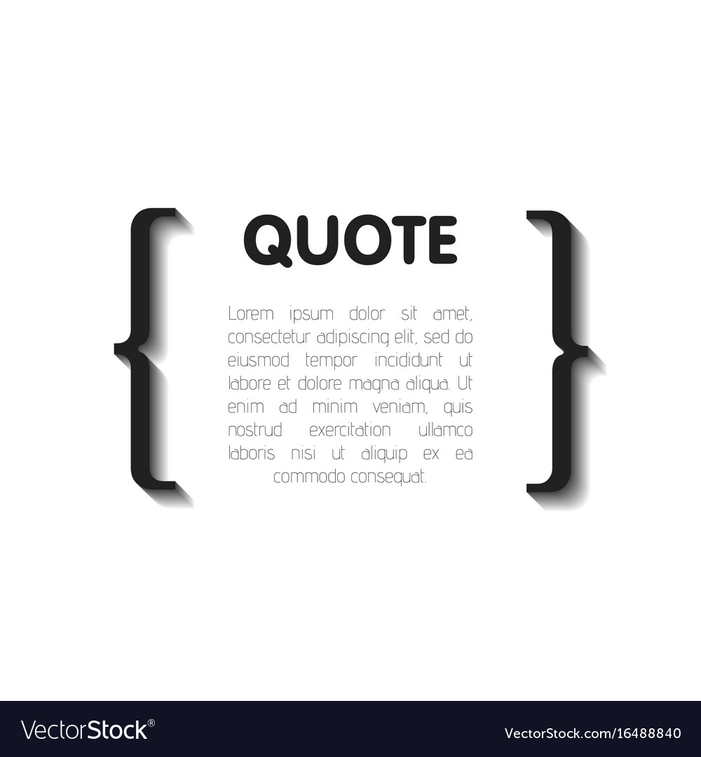 Quote bubble blank templates empty business card vector image reheart