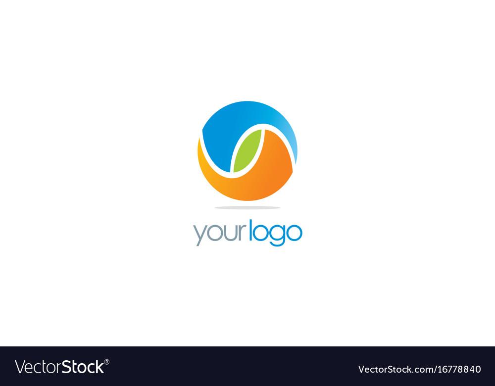 Round color ball eco logo