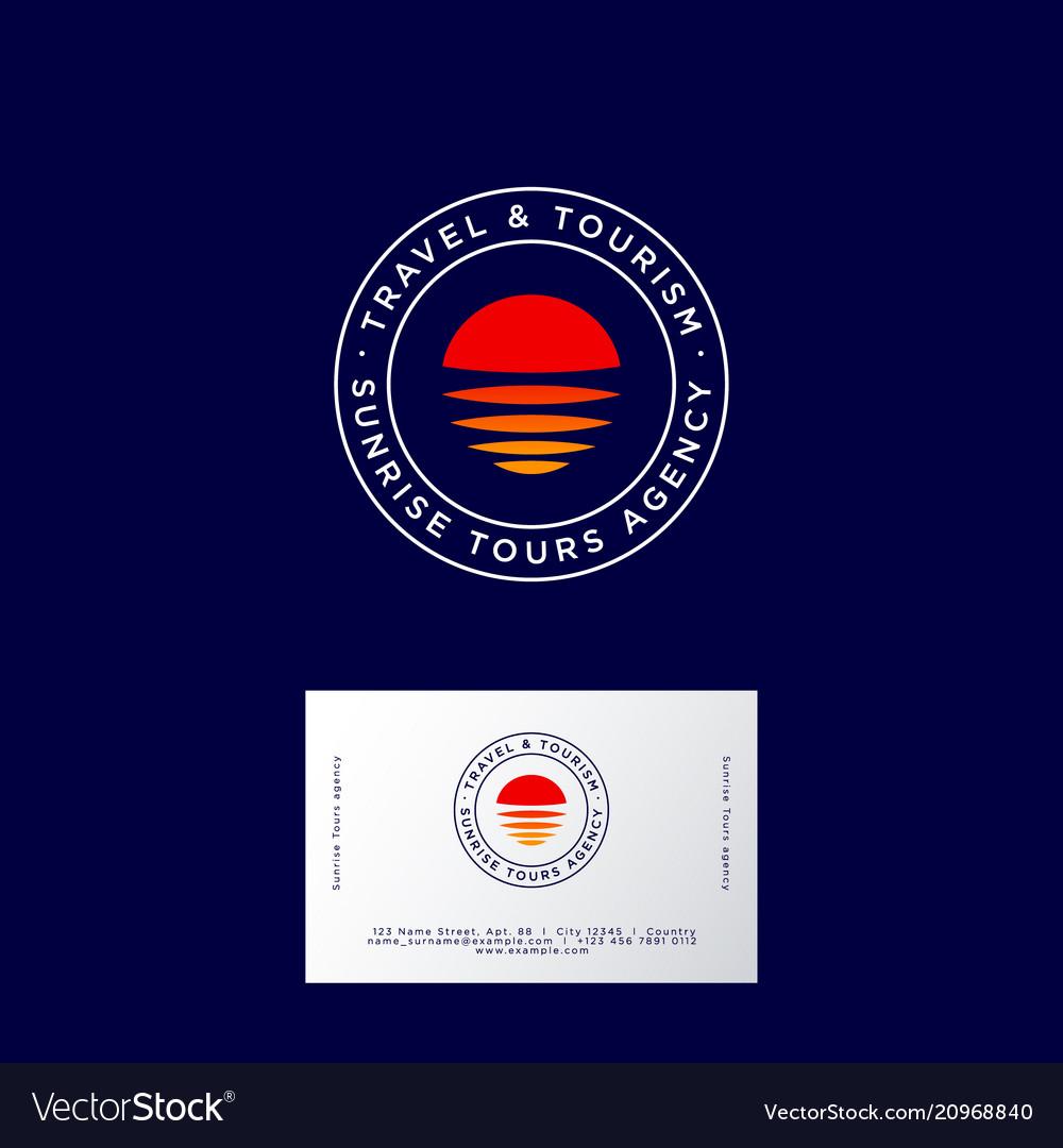 Travel logo sunrise tourism agency