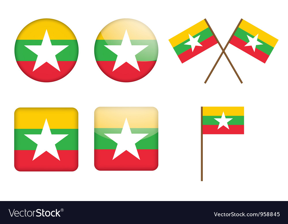 Badges with flag of Burma