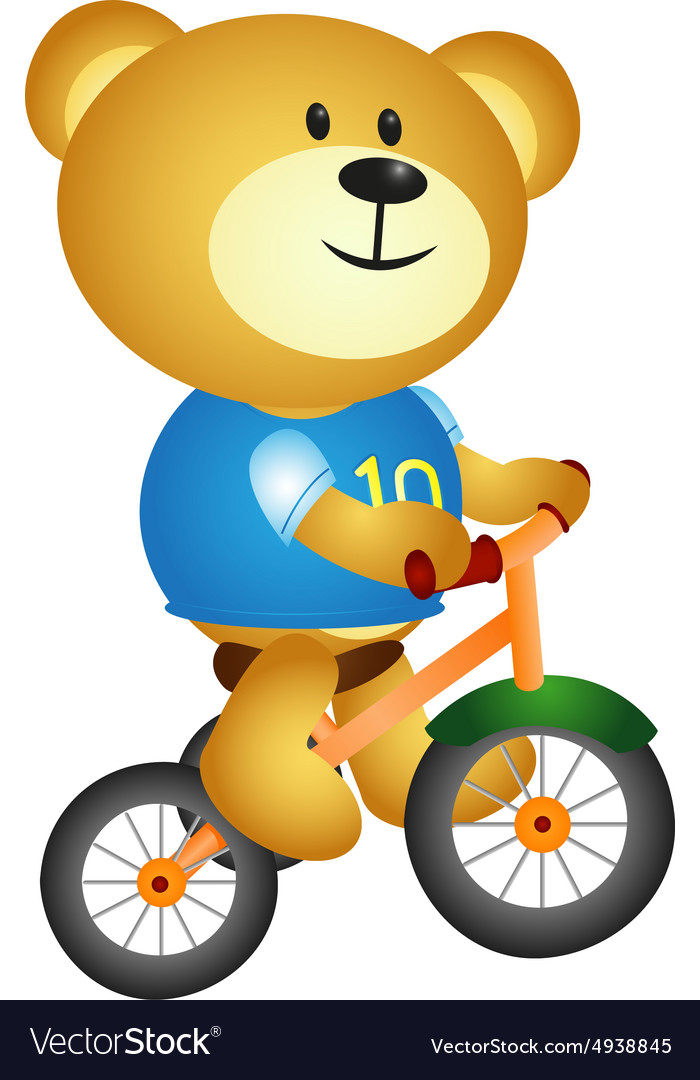 Bear with three cycle vector image