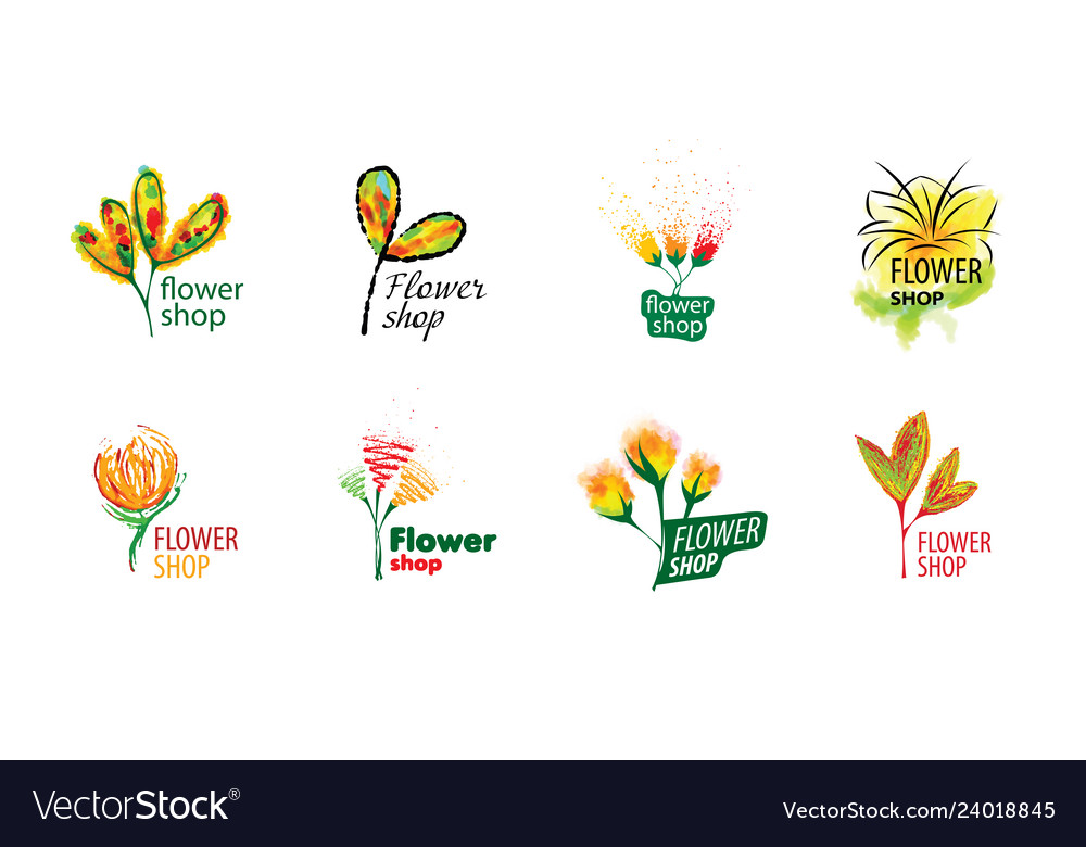 Logo for selling flowers abstract