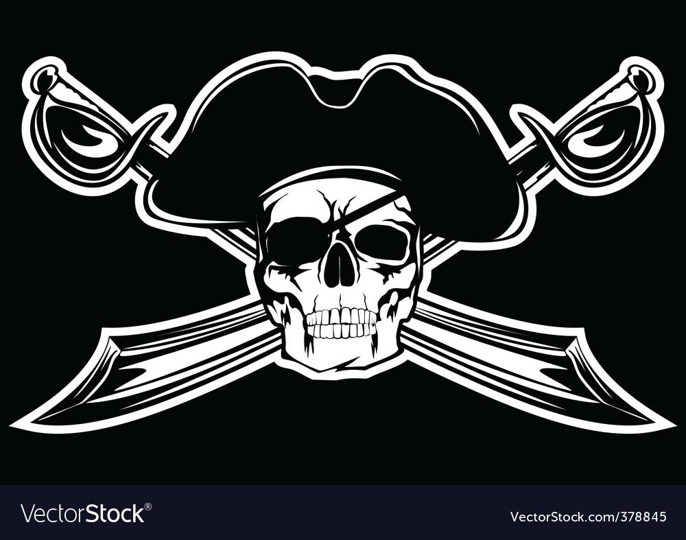 Piracy skull vector image