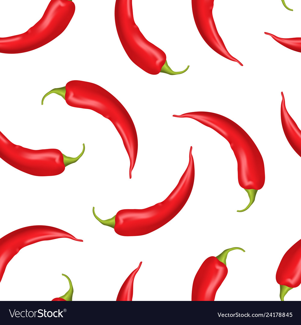Realistic detailed 3d whole hot chili pepper