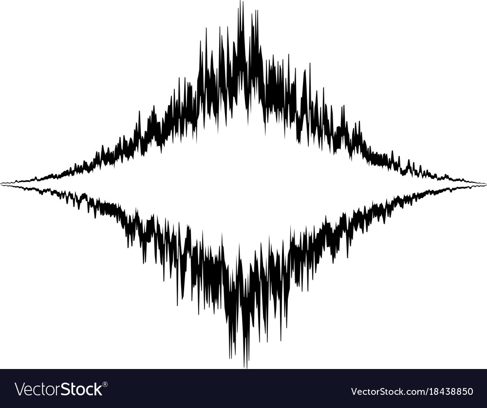 Audio equalizer vibration icon simple black style Vector Image
