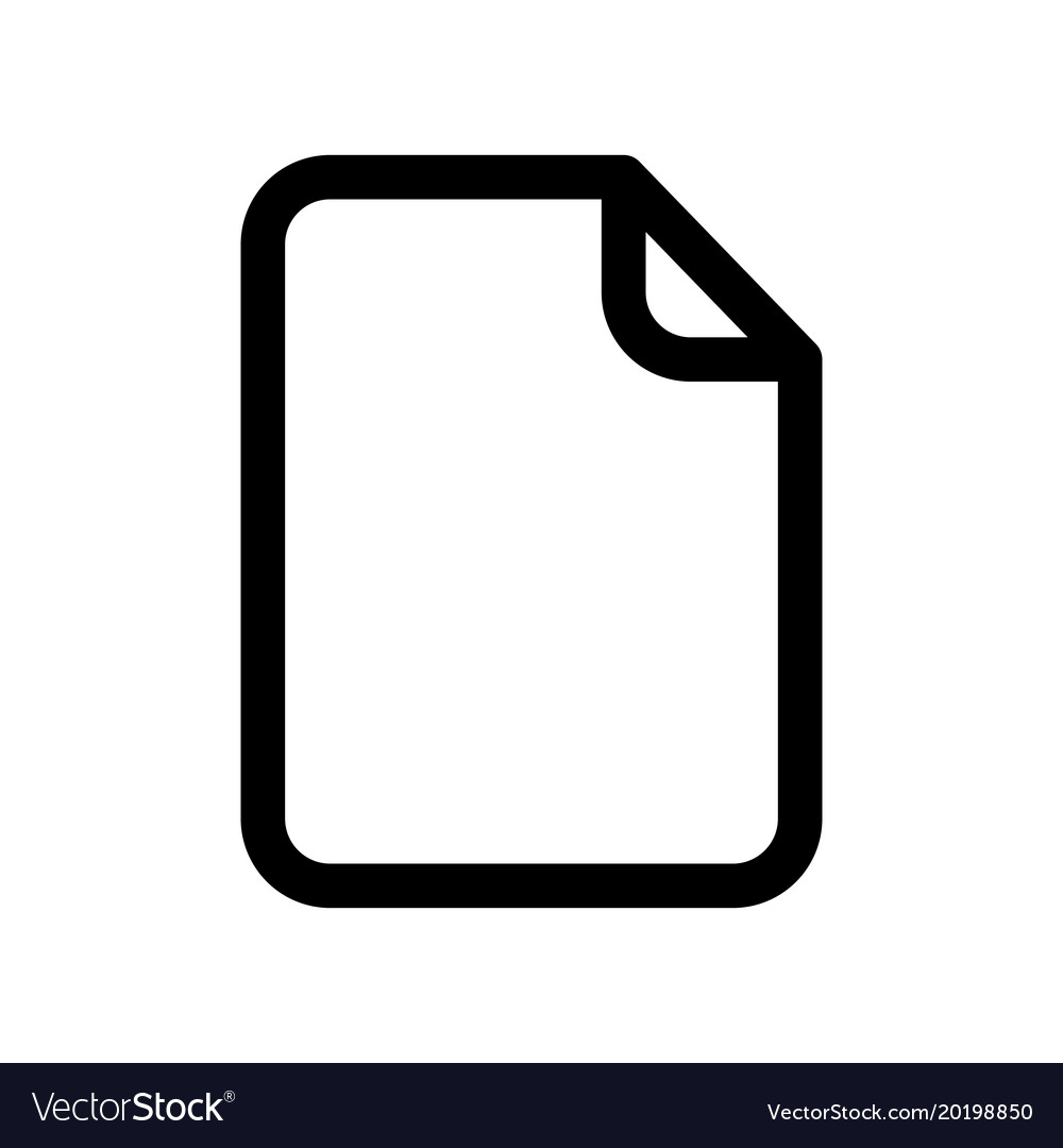 Document Icon Sheet Blank Paper Outline Royalty Free Vector