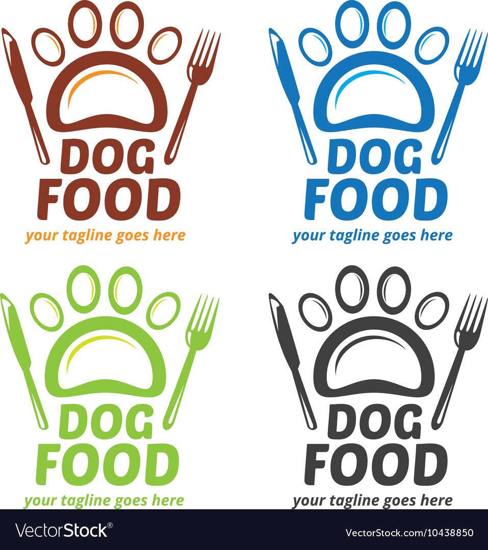 Dog Food Logo Dog Signage Pet Shop Logo Paw Log