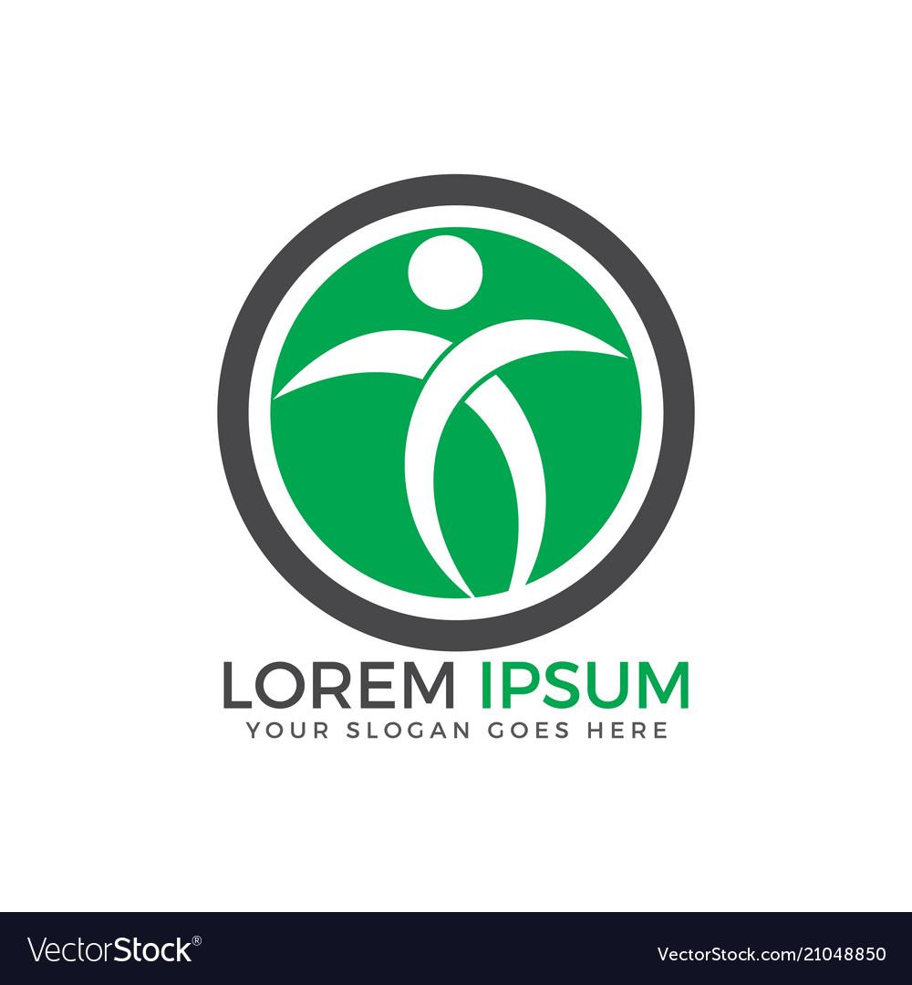 Fitness and wellness logo