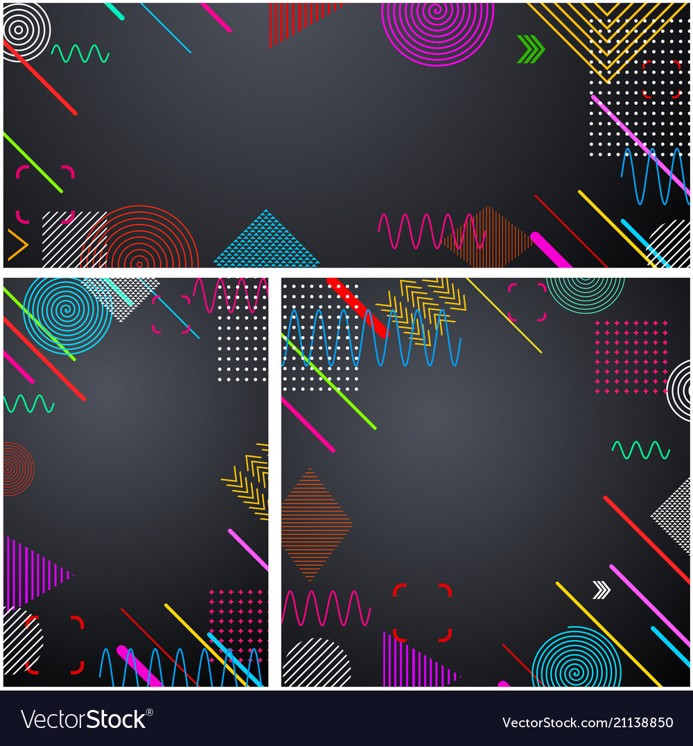 Grey backgrounds with abstract colorful pattern