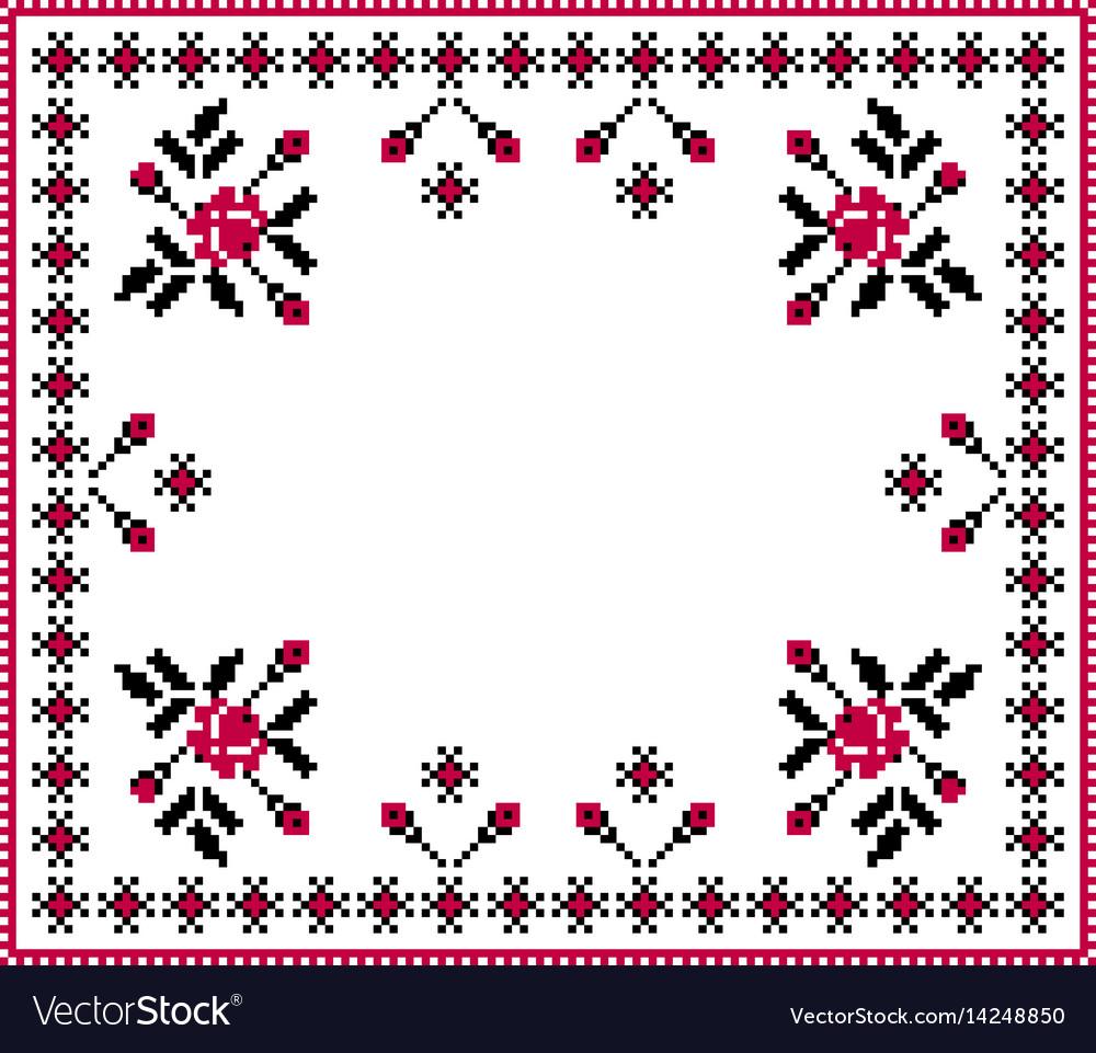 Of ukrainian folk seamless pattern