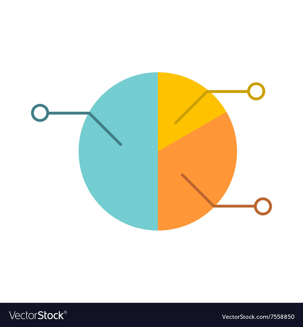 Pie chart infographic flat icon