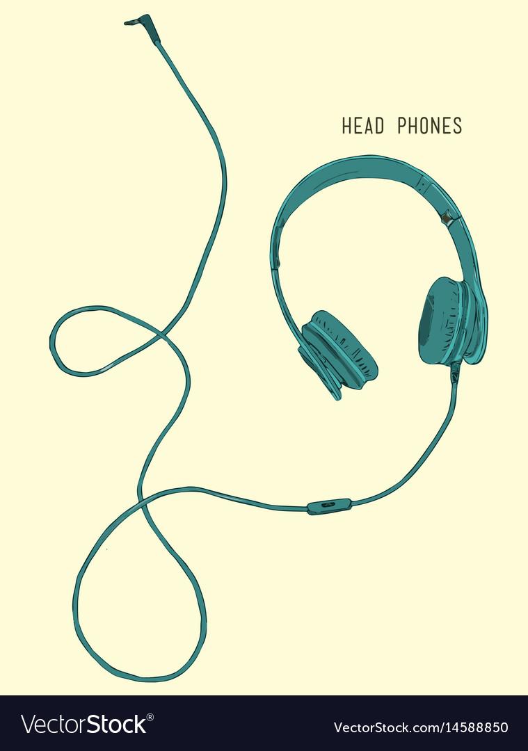 Sketch style headphones