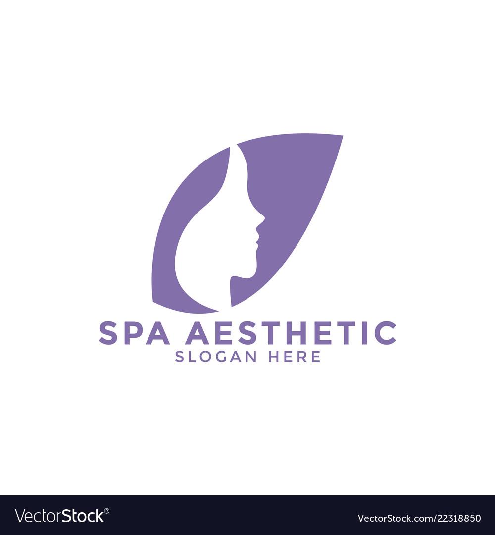 Spa aesthetic logo icon design template