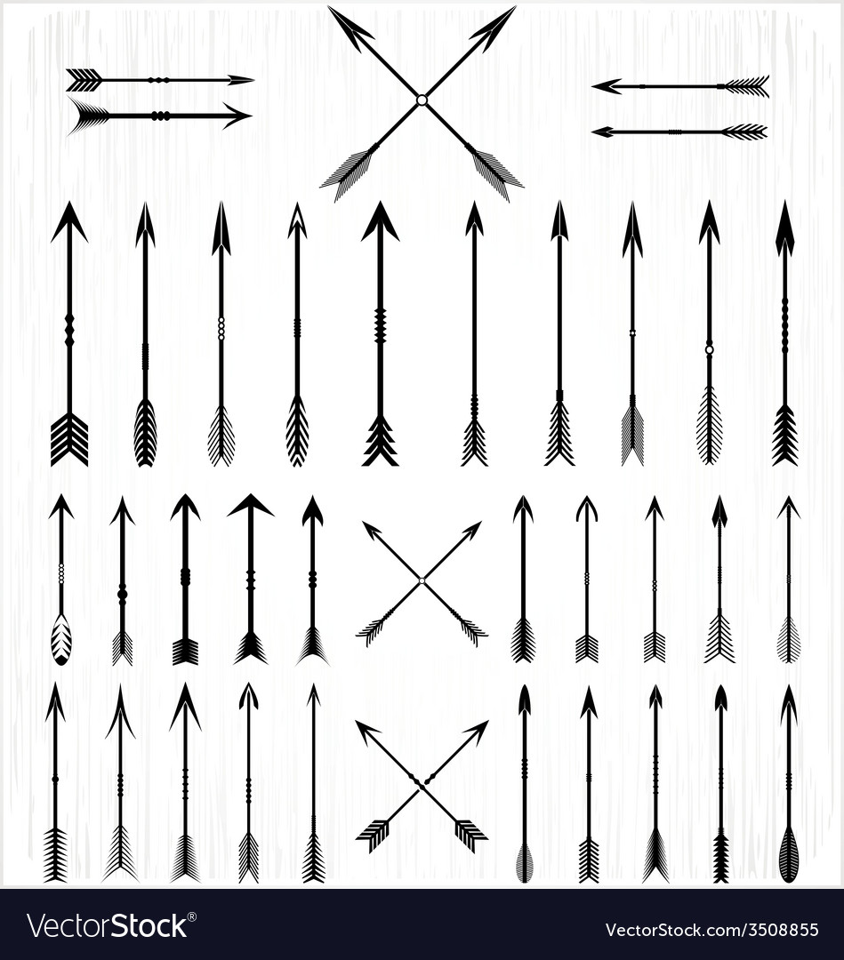 Arrow Silhouette Set Royalty Free Vector Image Download this free picture about arrow black silhouette from pixabay's vast library of public domain images and videos. vectorstock