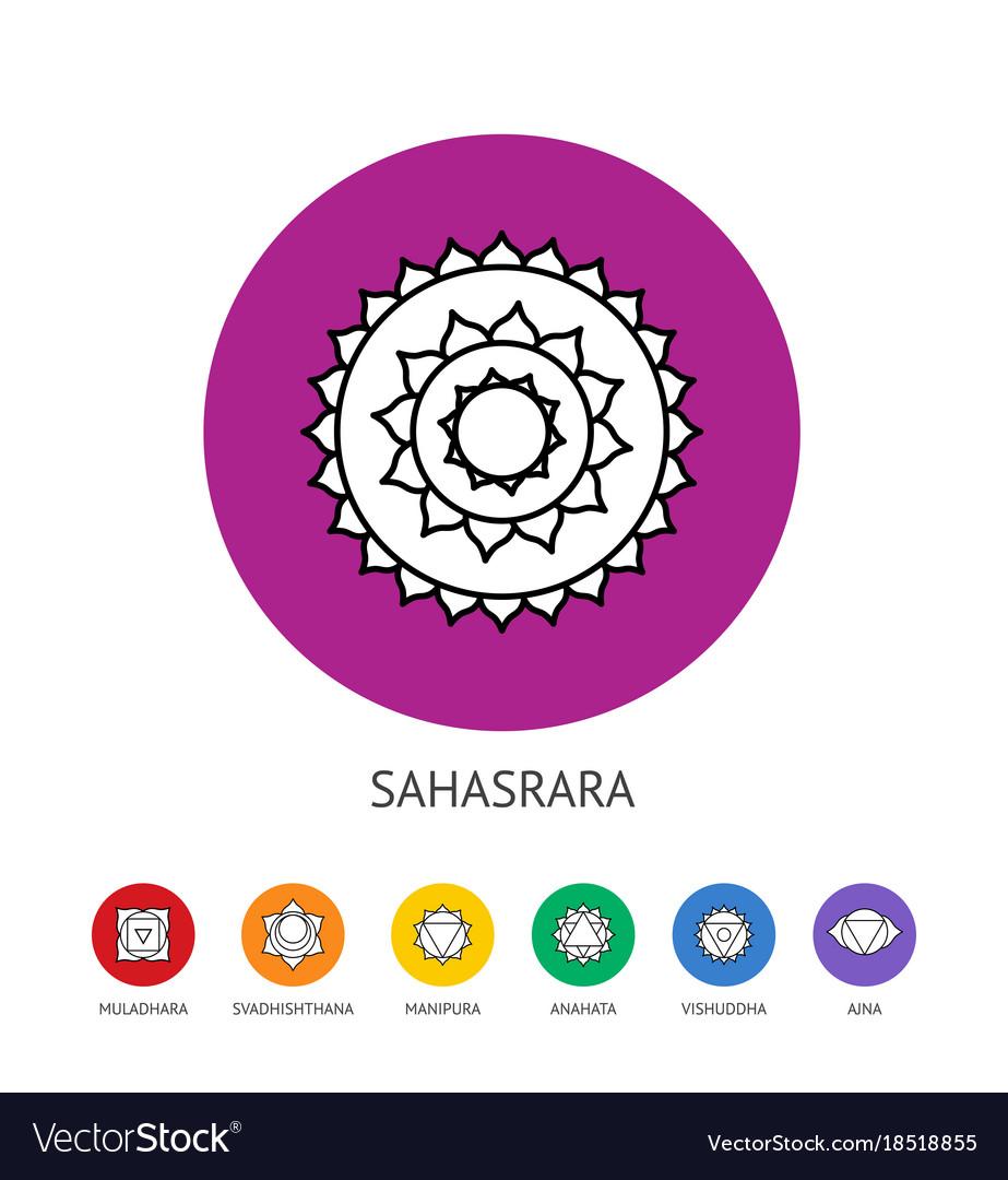 Chakras set spirituality and energy healing