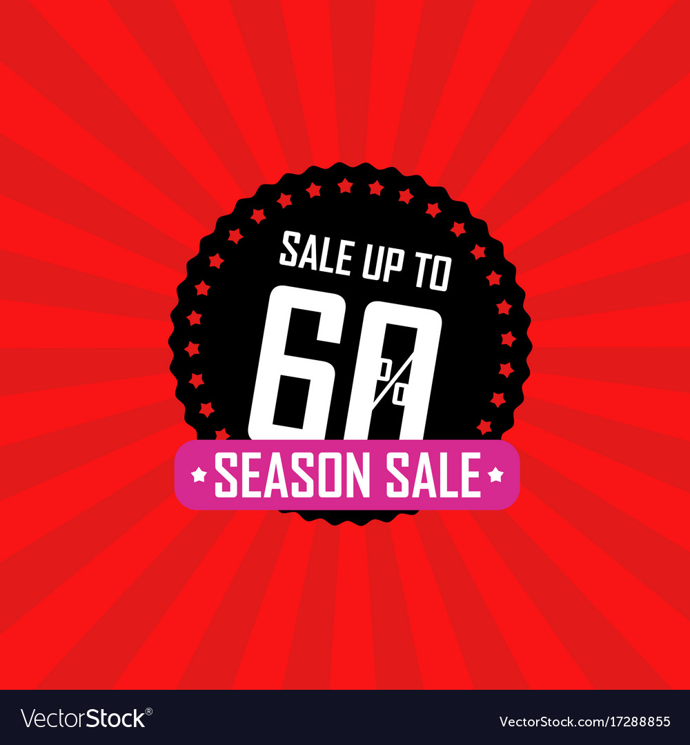 Season sale banner sale up to 60 percent off