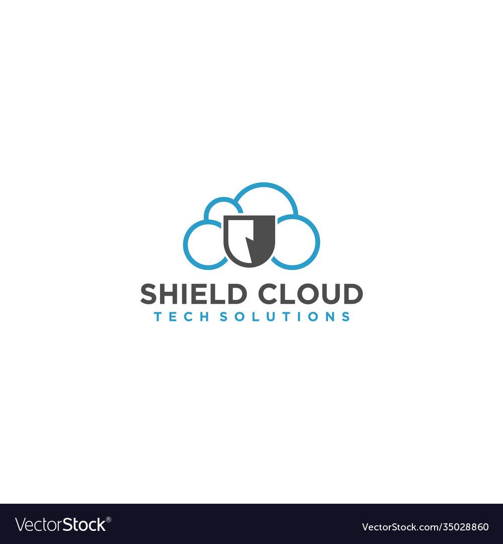 Cloud modern logo for internet or technology