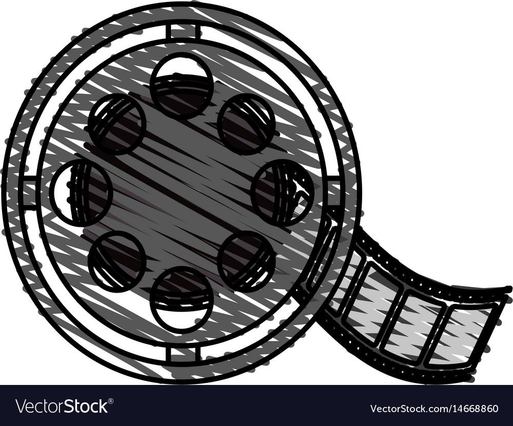 Color crayon stripe image cartoon film roll reel