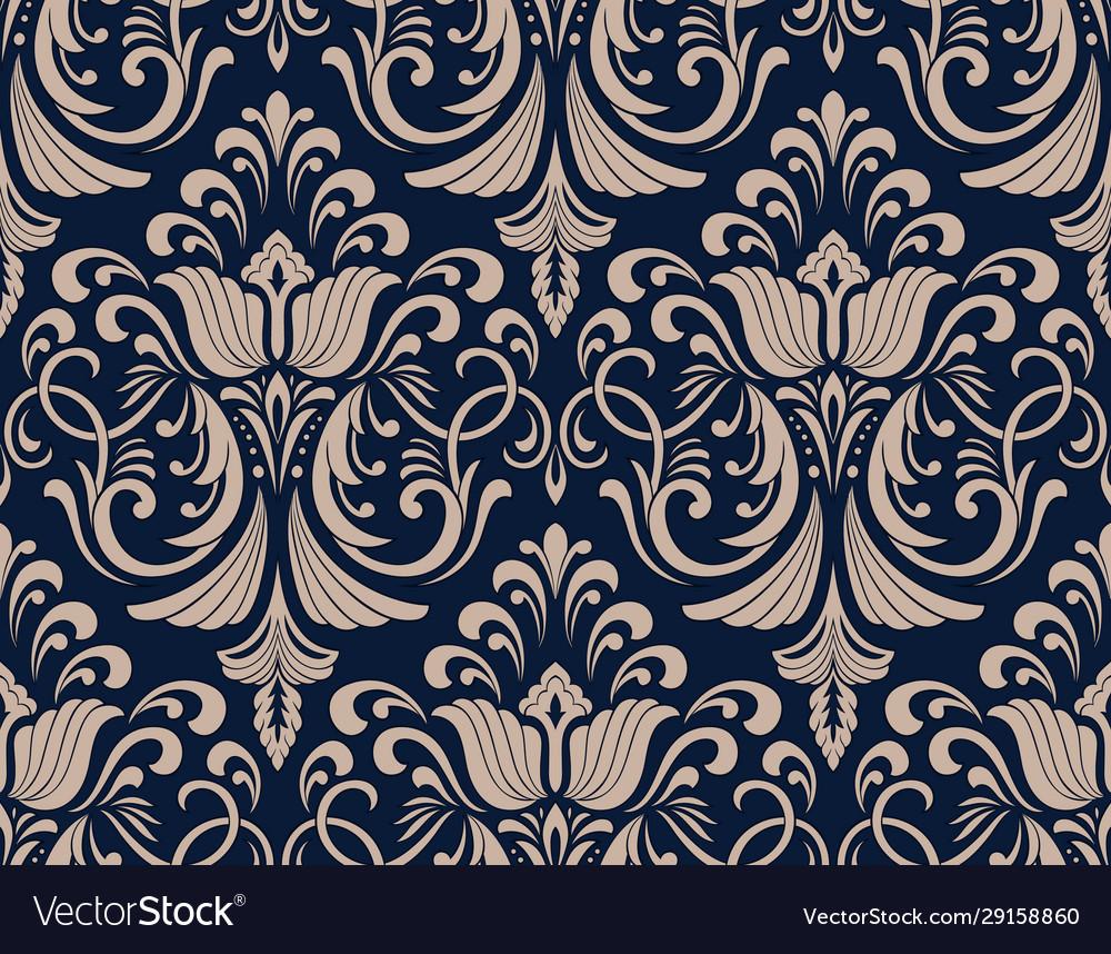 Damask seamless pattern element classical