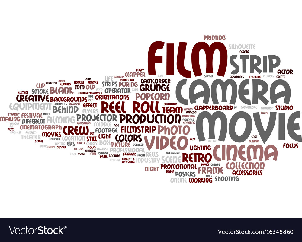 Film word cloud concept