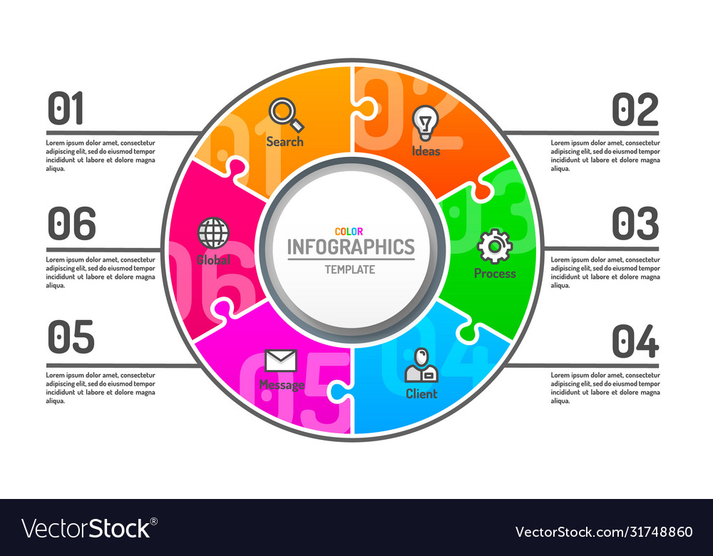 Infographics creative concept business info