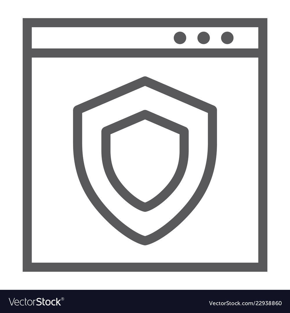 Internet security line icon safety and network