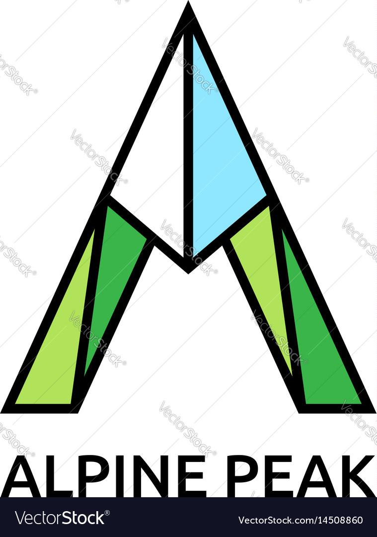 Mountain symbol vector image