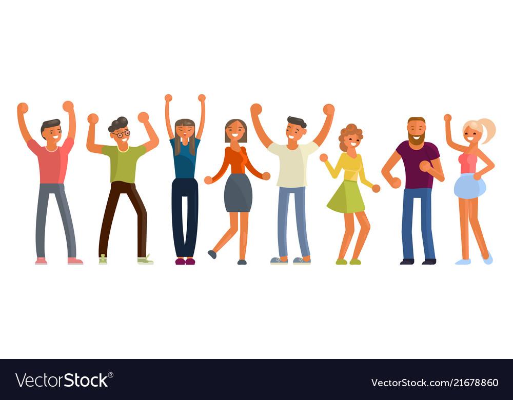 People dancing in flat design