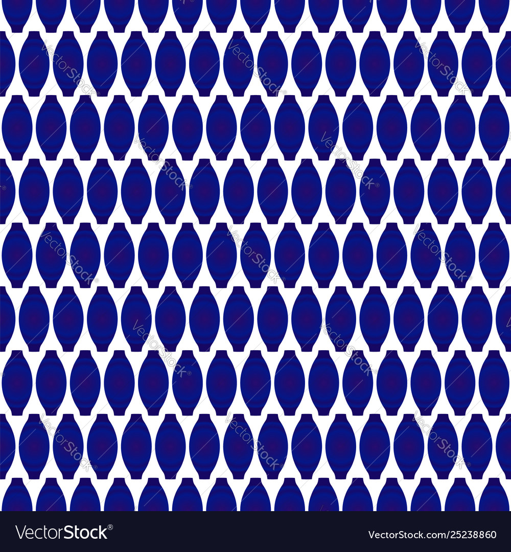Seamless pattern porcelain blue and white modern