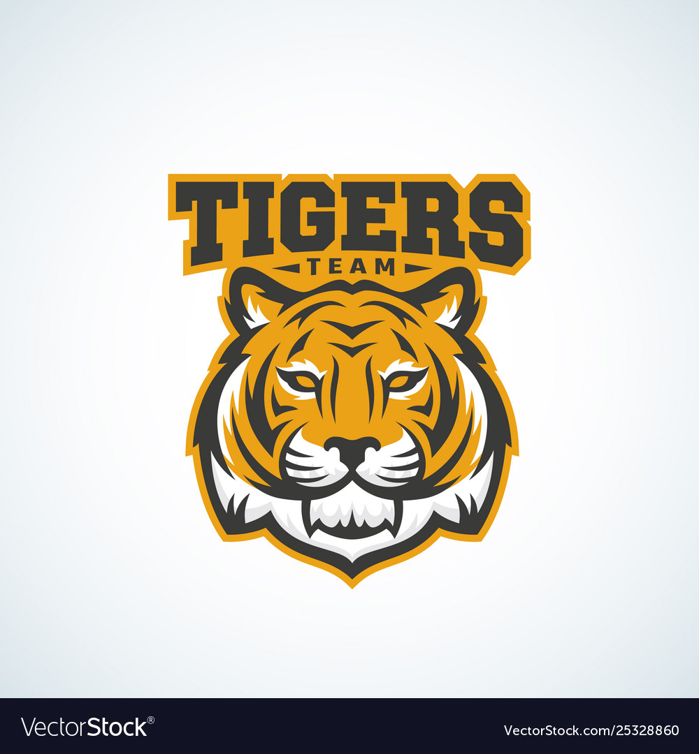 Tiger team abstract sign emblem or logo